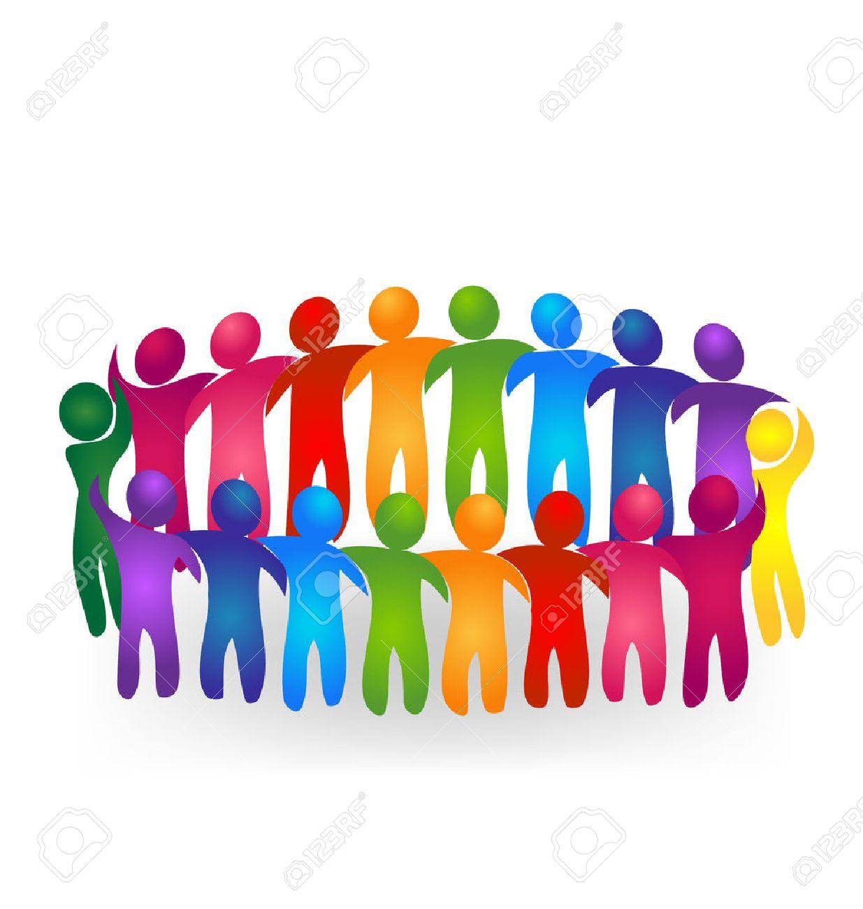 1235x1300 Vector Teamwork Meeting People Logo Royalty Free Cliparts, Vectors