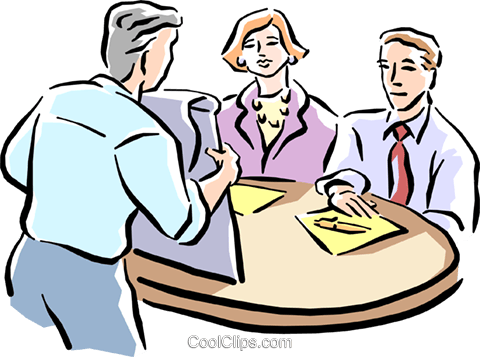 480x357 Business People Having A Meeting Royalty Free Vector Clip Art