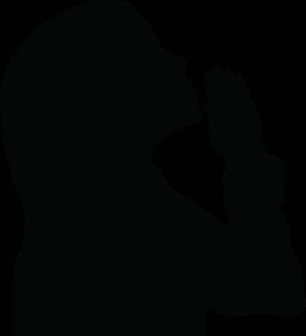 436x479 Black People Praying Clipart