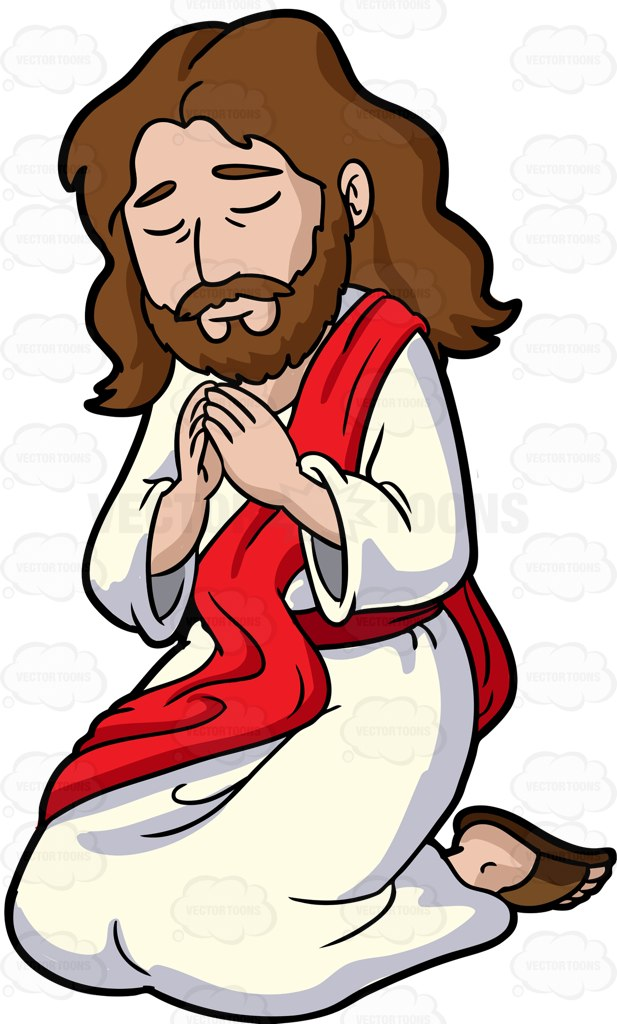 617x1024 Jesus Christ Concentrates While Blessing The People 1 Clip Art