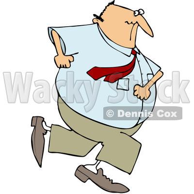 400x400 Free (Rf) Clipart Illustration Of A Chubby Caucasian Businessman