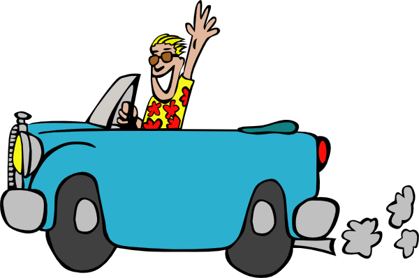 600x399 Man Driving Car Clip Art