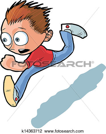 373x470 Running Away Clipart