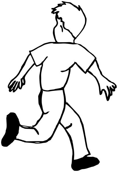 414x600 Boy Running Away