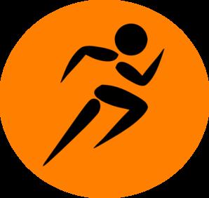 298x282 Man Running Orange Clip Art