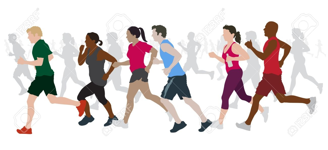 1300x594 People Running Clip Art Cliparts