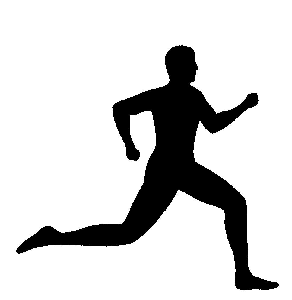 968x993 Running Clip Art Black White Runner Clipart Clipart Kid