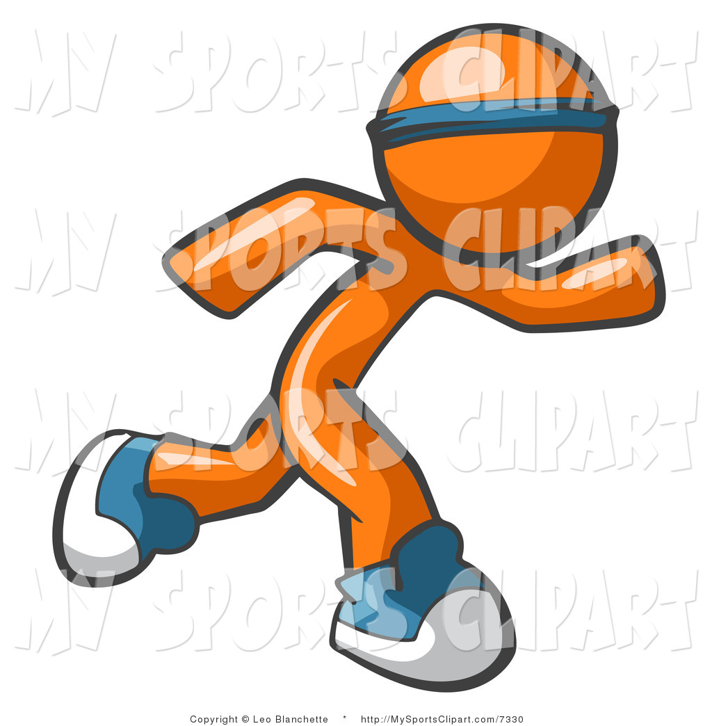 1024x1044 Sports Clip Art Of A Orange Person Running By Leo Blanchette