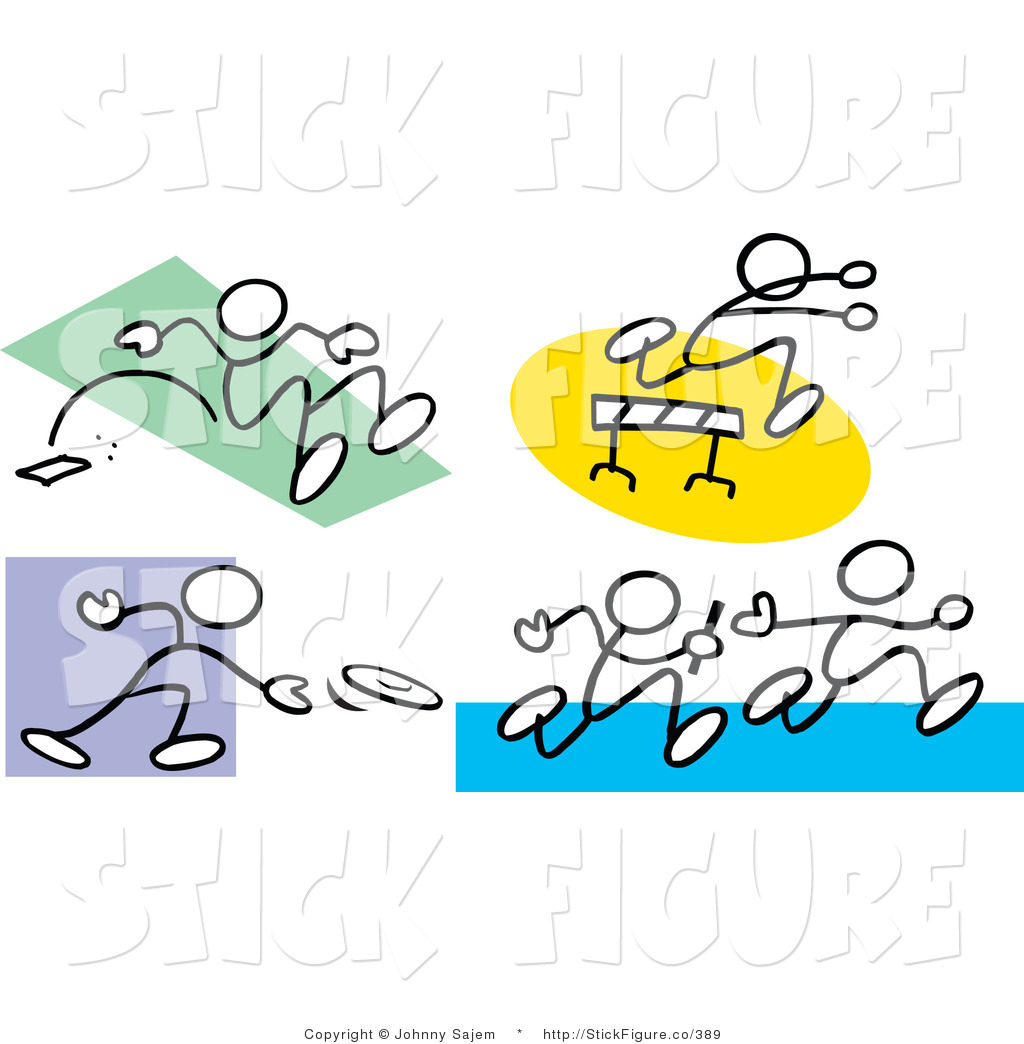 1024x1044 Clip Art Of Stick Figure People Doing The Long Jump, Leaping Over