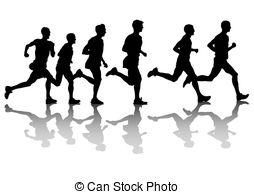 254x194 People Running Clip Art