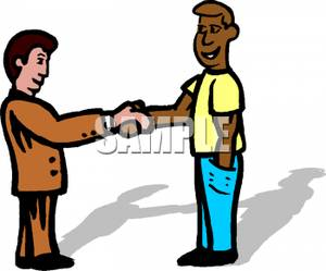 People Shaking Hands Clipart