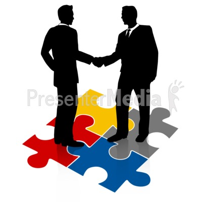 400x400 Businessmen Shake Hands Puzzle