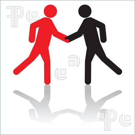 450x450 People Silhouette Shaking Hands Clipart Panda Free Clipart Images