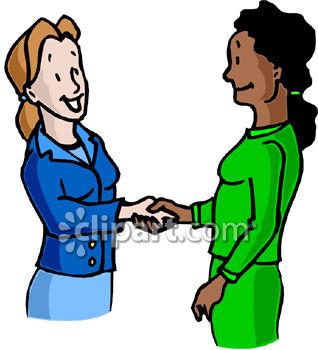 318x350 Two Business Women Shaking Hands