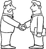 159x170 Two People Shaking Hands Clip Art Cliparts
