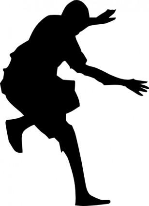 308x425 Hip Hop Dance Silhouette Clip Art