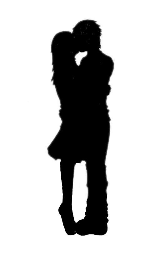 480x825 Kissing Clipart Silhouette