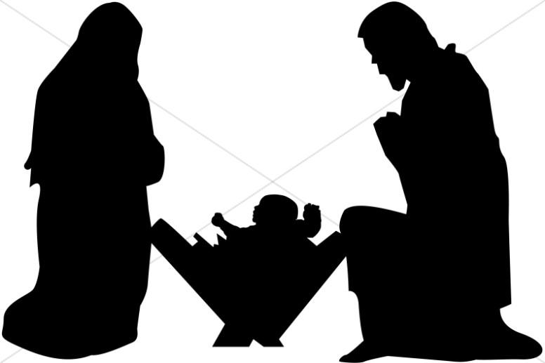 776x517 Nativity Silhouette Clip Art