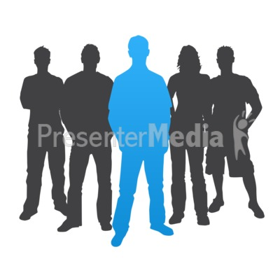 400x400 People Clipart Silhouette Group