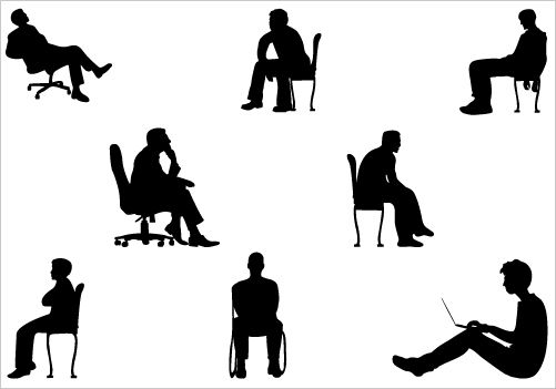 501x351 Man Sitting Clipart