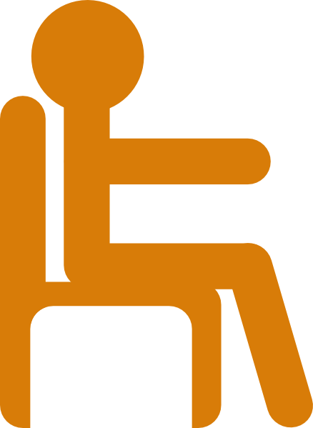 438x599 Person In Chair Clip Art Free Vector 4vector