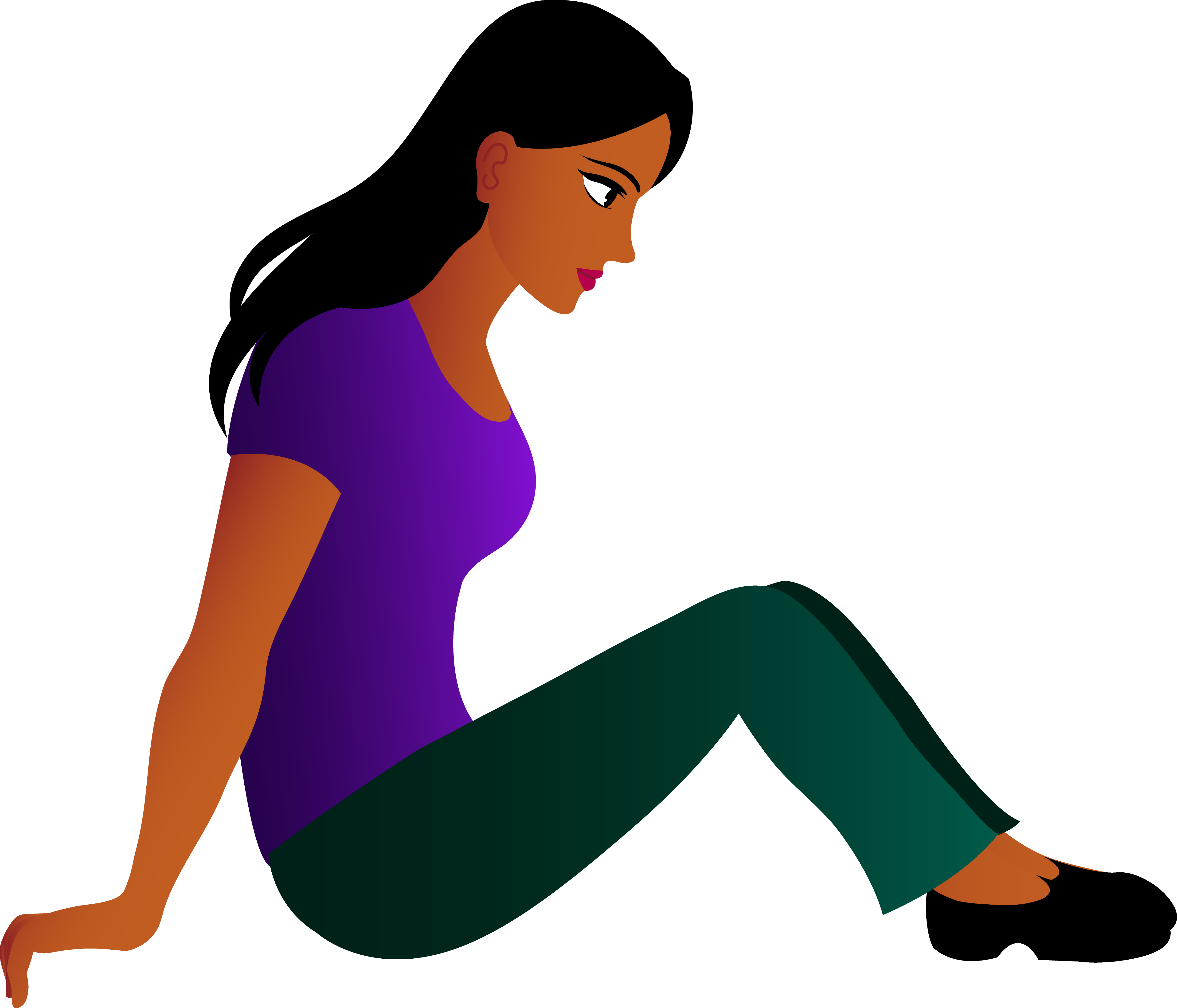 5009x4289 Young Woman Sitting Down