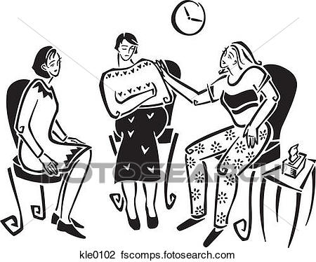 450x374 Clip Art Of A Womens Support Group Kle0102
