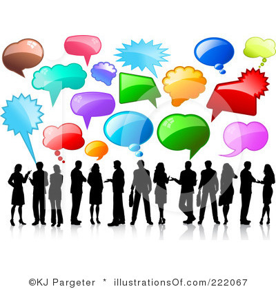 400x420 Talking With Friends Clipart