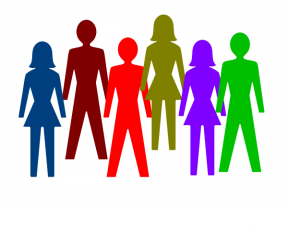 288x227 Clipart Of People Socializing