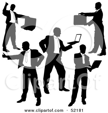 450x470 Clipart Of A Black And White Network Of People Socializing Through