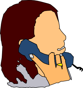 279x298 People Talking On The Phone Clipart