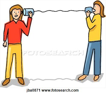 350x310 Phone Clipart Two Person