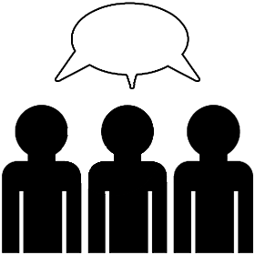 280x280 Two People Talking Clipart Group