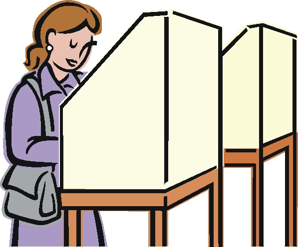 597x496 Voting Booth Clip Art