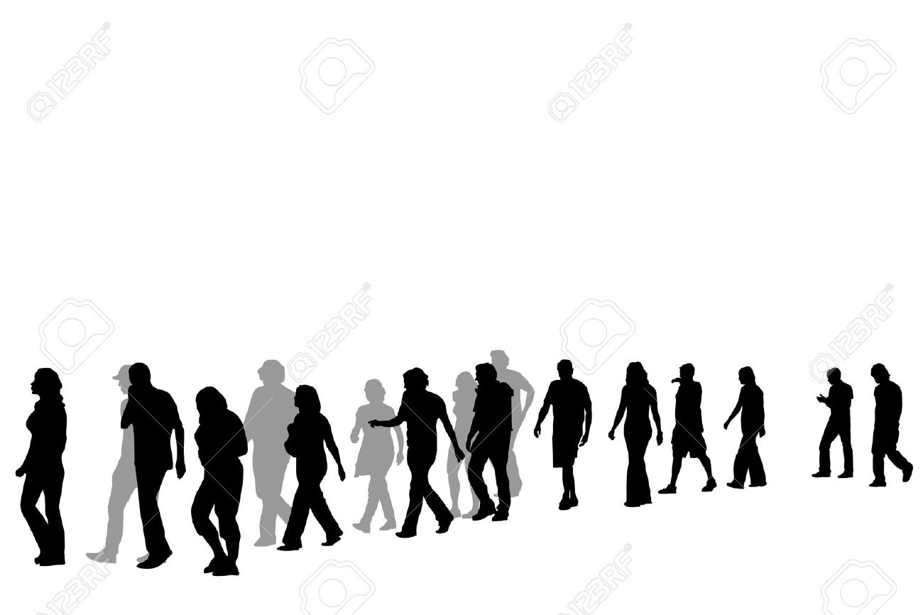 1300x866 Clipart Of People Walking