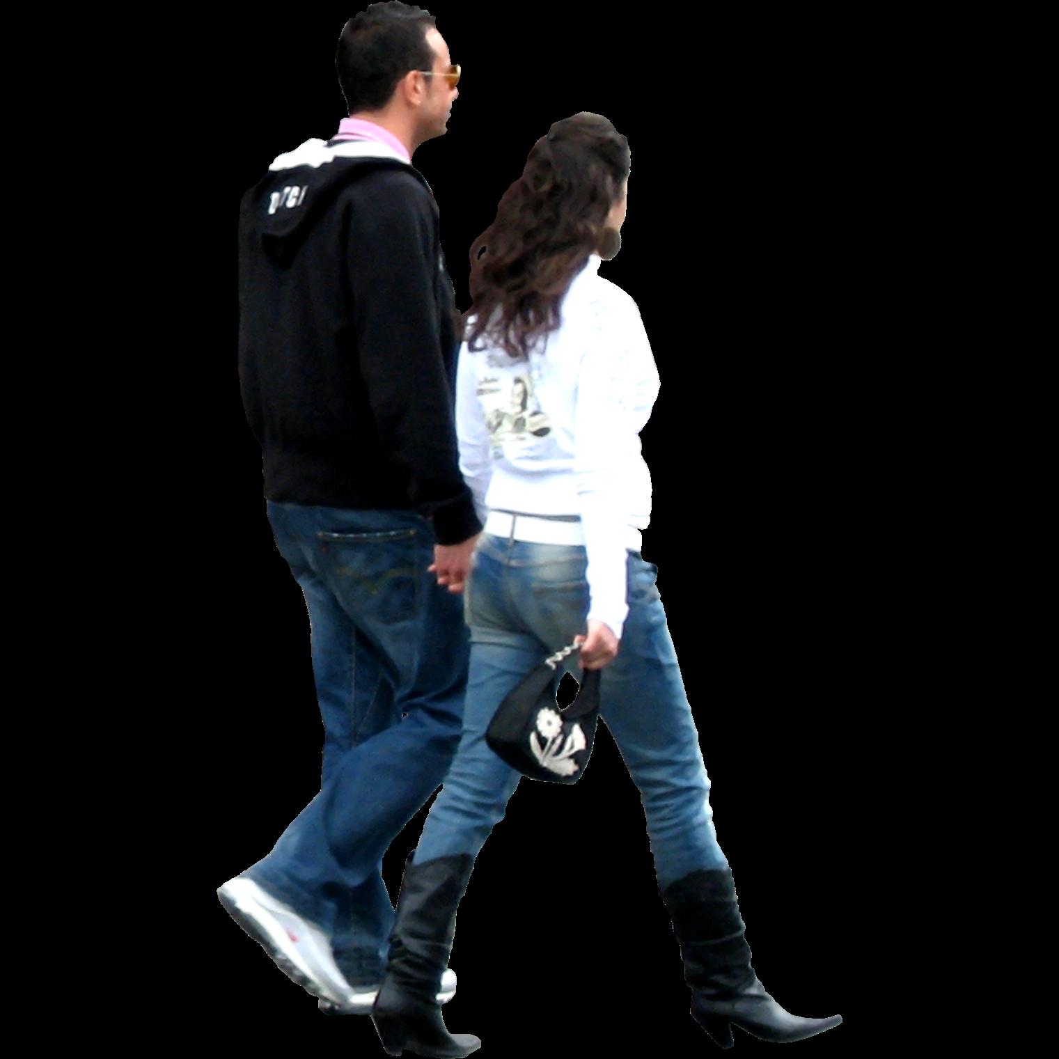 walking away transparent couple clipart architecture photoshop entourage library personas para render immediate