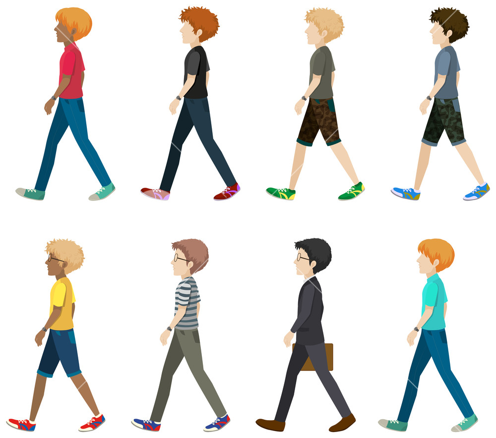 1000x882 A Group Of Faceless People Walking In One Direction On A White