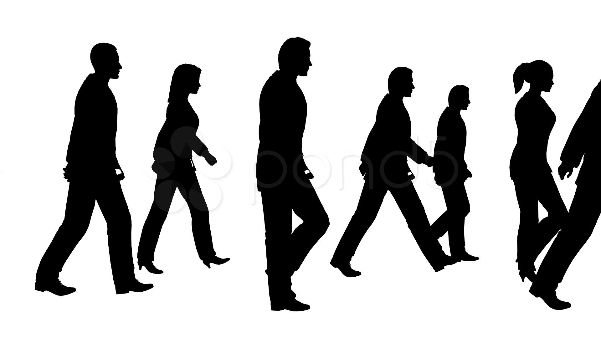 1920x1080 People Walking Stock Video Footage
