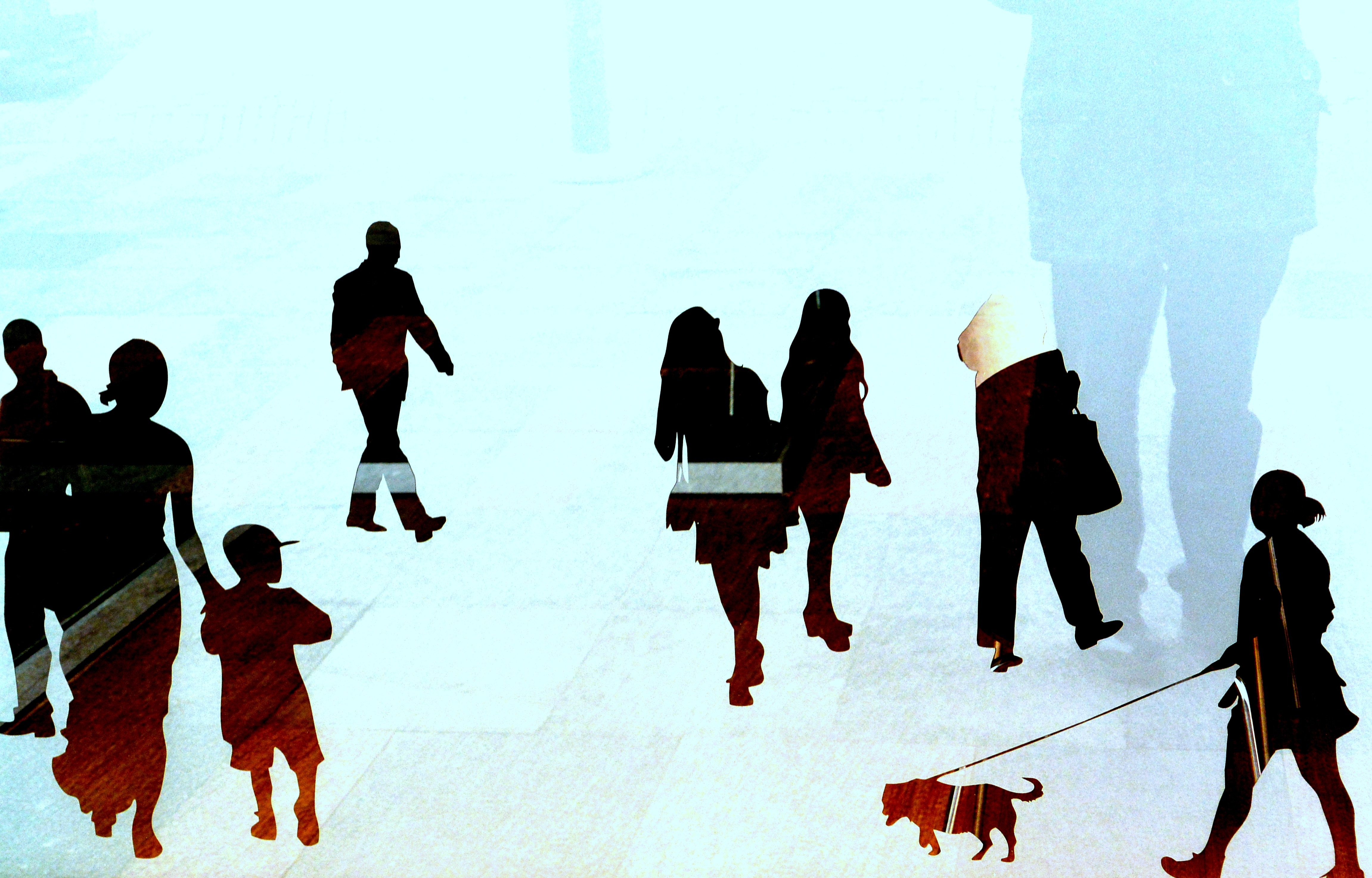 4604x2947 People Walking Graphics Free Image Peakpx