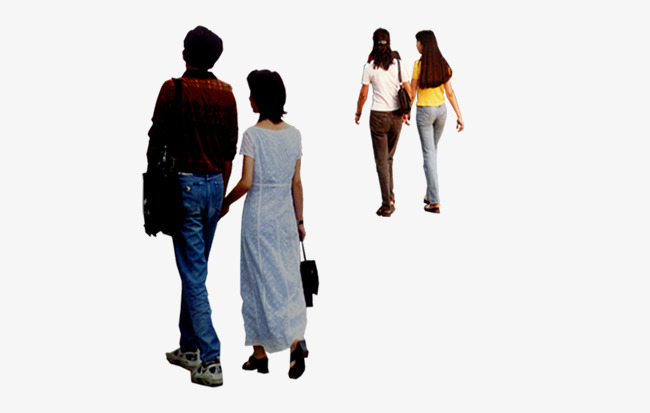 650x413 The Back Of The Walk, People Nearby, Walking People Png And Psd
