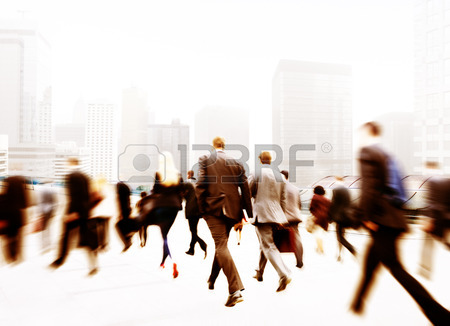 450x326 Business People Walking Commuter Travel Motion City Concept Stock