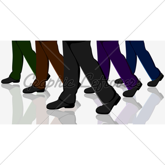 325x325 Business Walking Crowd Rushing People Gl Stock Images