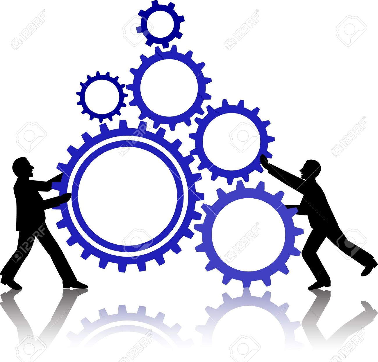 1300x1247 Illustration Of Business People Working Together Royalty Free