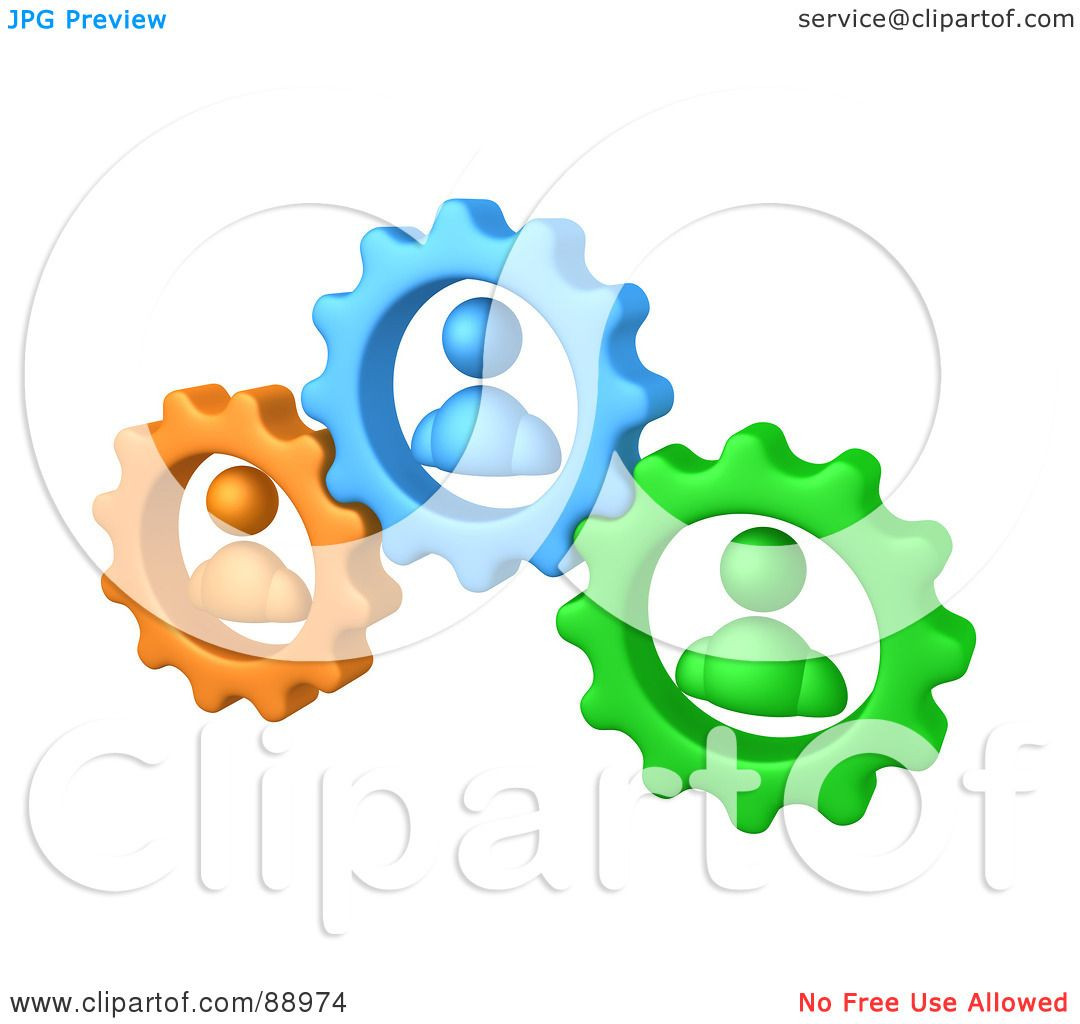 1080x1024 Royalty Free (Rf) Clipart Illustration Of Green, Orange And Blue