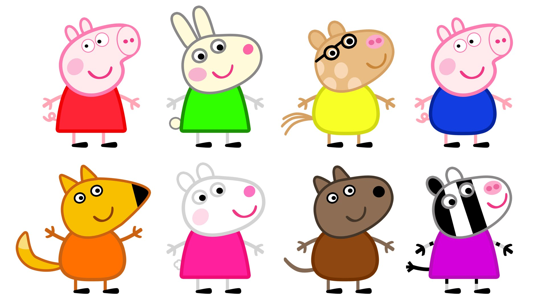 1920x1080 Peppa Pig And Friends Coloring Pages Print Many Interesting Cliparts