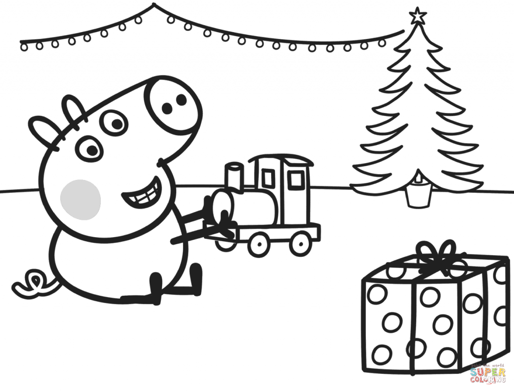 Peppa pig coloring pages free download best peppa pig for Peppa pig coloring pages christmas