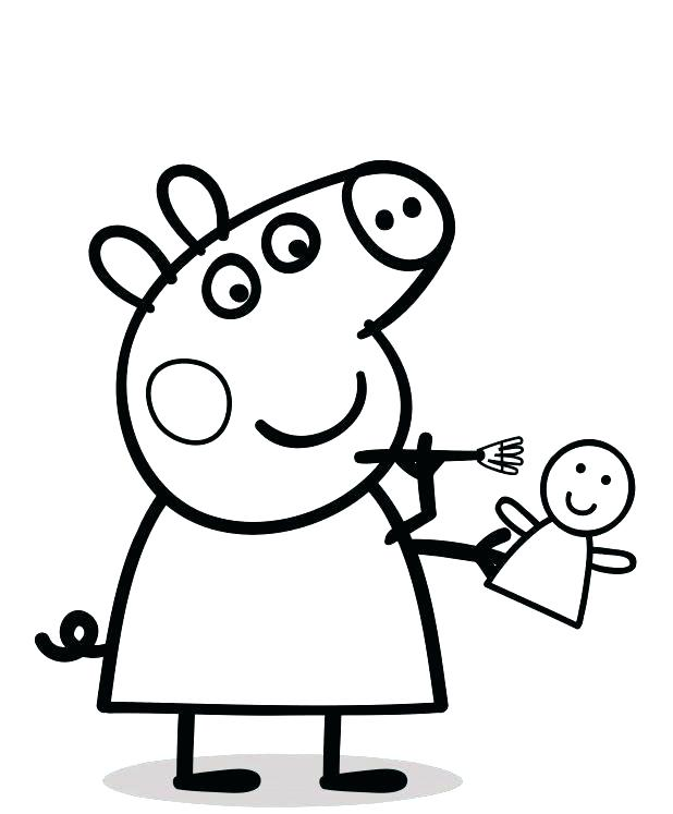 618x747 Peppa Coloring Pages Print Pig Archives With Delightful