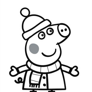 300x300 Peppa Pig And George Playing In The Mud Coloring Page Peppa Pig