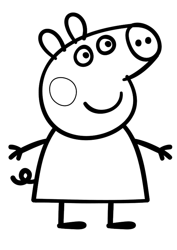 595x842 Cartoon Peppa Pig Coloring Pages For Kids Peppa Pig Coloring
