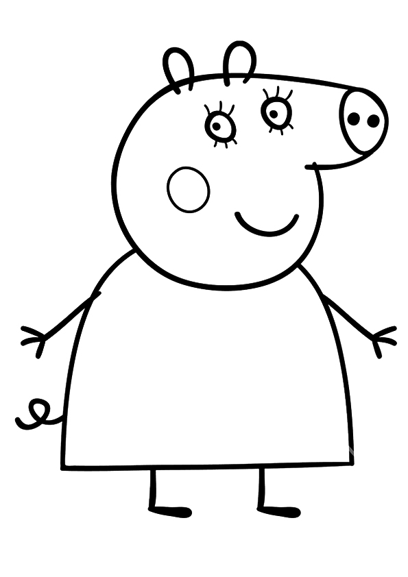 595x842 Peppa Pig Coloring Pages Mummy